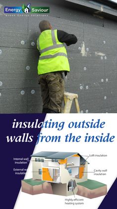Find out how much solid internal and external wall insulation costs, It's possible to insulate either the inside or the outside of your walls, and... #insulatingexteriorwallsfromoutside #howtoinsulatewallsfromtheinside #howtoinsulateinteriorwallsinanexistinghouse #exteriorwallinsulation #exteriorwallinsulationoptions #bestinsulationforexteriorwalls #howtoinsulateacoldwallfromtheinside #addinginsulationtoexteriorwalls Internal Wall Insulation, Rigid Insulation, Insulation Board, Insulation Materials, Building A Stud Wall, Mineral Wool, Energy Companies, Electricity Bill, Central Heating