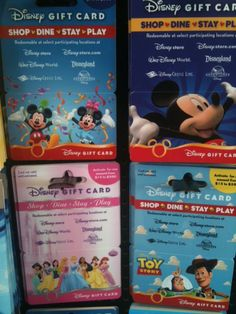 Transfer Multiple Disney Gift Card balances to one card, up to $1,000.