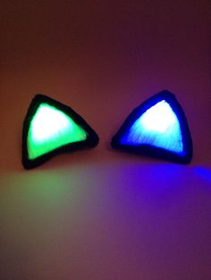 Glowing Multicolor Clip On Costume Cat Ears by GeekStarCostuming, $25.00