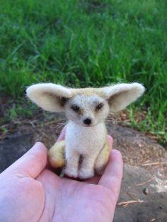 Ahhhh!! Fennec fox. $40.00, via Etsy.