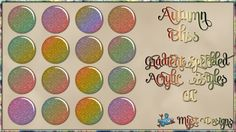 Autumn Bliss - Gradient Speckled Acrylic Styles CU