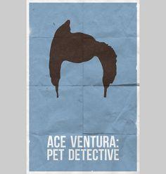 Ace Ventura: Pet Detective - Minimal Movie Poster by Bill Pyle Minimal Movie Posters, Minimal Poster, Movie Poster Art, Film Posters, Music Posters, Ace Ventura Pet Detective, Alternative Movie Posters, Film Serie, Love Movie
