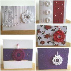 Crochet wreaths cards