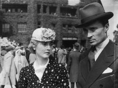21st June 1937: American Woolworth heiress Barbara Hutton, the Countess von Haugwitz-Reventlow (1912 - 1979), with her husband, Count Kurt von Haugwitz-Reventlow, at Wimbledon for the opening of the tennis championships.