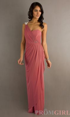One Shoulder Gown in Dusty Pink- I would actually wear this to formal
