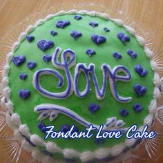Love cake with simple hearts
