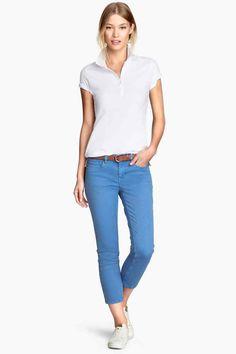 Pantalón capri de sarga | H&M