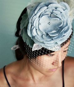 - These over-sized floral accessories are a frill hater's worst nightmare and a girlie-girl's dream come true. Created by Myra Callan, the owner of . Headpiece Wedding, Bridal Hair, Hair Wedding, Bridal Veils, Wedding Veils, Wedding Stuff, Wedding Flowers, Head Accessories, Wedding Hair Accessories