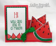 The Stamps of life new stamp set, Watermelon2stamp and #Sizzix Step Up card die.