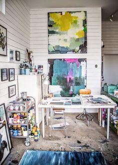 Suède / L'atelier et la maison d'une artiste peintre /