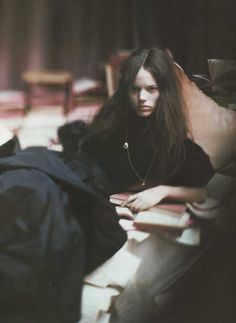 freja beha erichsen by paolo roversi for vogue italia 2007.