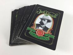 Vintage Jack Daniels Playing Cards Old No. 7 Whisky Bar Man Cave Decor Retro Graphics Paper Ephemera Scrapbook Crafts - pinned by pin4etsy.com