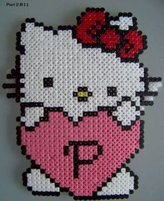 perler bord: hello kitty - Pat Fritid