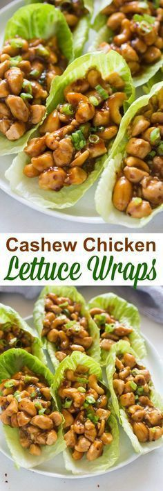 I'm a little obsessed with this easy dinner idea! Cashew Chicken Lettuce Wraps t… I'm a little obsessed with this easy dinner idea! Cashew Chicken Lettuce Wraps that are better-than-takeout and made in less than minutes! Low Carb Recipes, Cooking Recipes, Healthy Recipes, Healthy Foods, Fast Recipes, Cooking Ribs, Cooking Steak, Cheap Recipes, Cooking Turkey