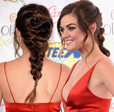 10 Chic Chunky Messy Braids: Lucy Hale Braided Hairstyles