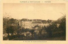 POITIERS - POITIERS - Clinique de Pont-Achard vue prise du Boulevard Pont-Achard - Pas de date connue