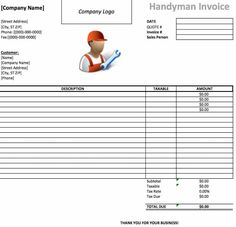 FreePrintableEstimateFormsTemplates Property Damage Form - Handyman quote template