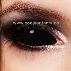 Black Sclera Contacts - Sabretooth Sclera Contact Lenses