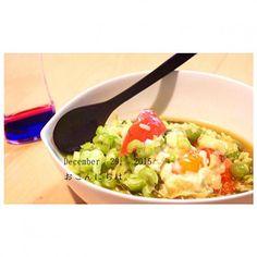 グリーンピース嫌いな人もペロッと食べてました(^ω^) - 25件のもぐもぐ - トマトとグリーンピースのたまごパルメザンチーズスープ by yasuko691