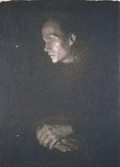 Working Woman in Profile Facing Left (1903) by Käthe Kollwitz