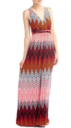 $24.  SO pretty.  Geo Print Maxi, Multi by John Paul Richard