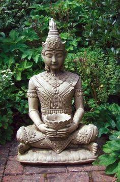 View the Peaceful Stone Buddha Statue - Large Garden Sculptures. Or see our full range of exquisite unique to Statues & Sculptures Online. Baby Buddha, Buddha Zen, Resin Garden Statues, Garden Sculptures, Buddha Statues For Sale, Stone Buddha Statue, Balinese Garden, Zen Garden Design, Meditation Garden