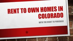 3 bed 2 bath homes for sale in Parker CO 80134  https://gp1pro.com/USA/CO/Douglas/Littleton/200_W_Plaza_Dr__120.html  If you are looking for the best value on a rent to own or lease option home in Colorado call Donna Jarock at (303) 718-6285. Visit http://www.pickyourownrental.com and email thanksdonna@gmail.com.