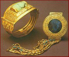 Two of King Tut's bracelets