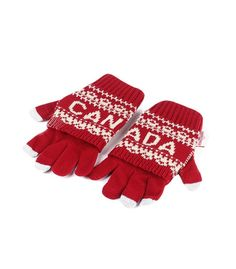 Maroon Canada Vintage 2 In 1 Adult Glove - Robin Ruth Canada Winter Collection 2016