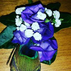 Peacock buttonhole