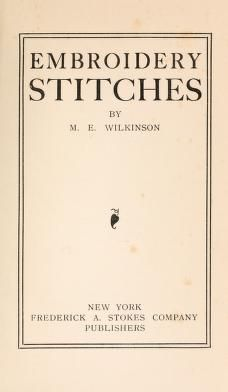 Embroidery stitches book to download