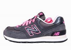 Joes New Balance 574 WL574RKP Grey Pink Womens Shoes