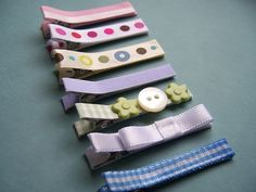 Handmade Baby Hair Clips by paperseed, via Flickr crafts-for-baby