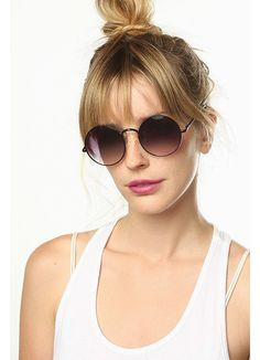 Cheap Round Sunglasses | Cayce Unisex Round Metal Sunglasses | BleuDame.com Round Metal Sunglasses, Cheap Sunglasses, Fake Glasses, Optical Frames, Unisex, Fashion, Frames For Glasses, La Mode, Fashion Illustrations