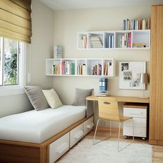34 Best Small Bedroom Ideas On A Budget , If you're on a budget and attempting to find room design suggestions for a little space, think about purchasing multi-functional pieces. , Bedroom ideas 34 Best Small Bedroom Ideas On A Budget Small Apartment Bedrooms, Small Space Bedroom, Small Bedroom Designs, Small Room Design, Small Rooms, Tiny Spaces, Small Bedroom Interior, Simple Bedroom Small, Minimalist Bedroom Small