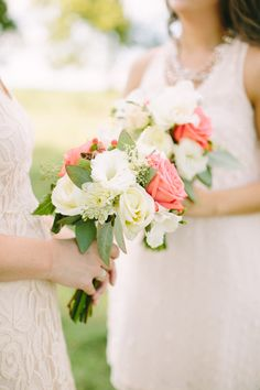 simple rose + greens bouquets | Josh McCullock #wedding