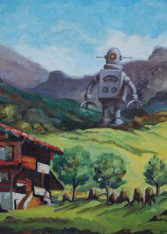 altered thrift store art by Jason Jones  Artistjasonjones.com Robot Art