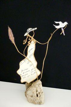 Lettre à maman - figurines en ficelle et papier : Accessoires de maison par ficelleetpapier