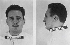 Ficha carcelaria de Fidel Castro, 1953. Tras ser condenado y ante le presión popular e internacional, la dictadura de Batista amnistió a Fidel y al resto de sus compañeros en 1955, después de 22 meses de prisión.