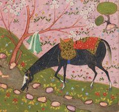 Lovely long-necked horse from the Khamsah-'i Niẓāmī