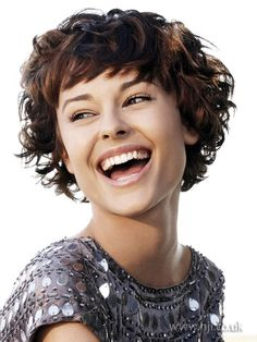 Look how happy you can be with short curly hair.