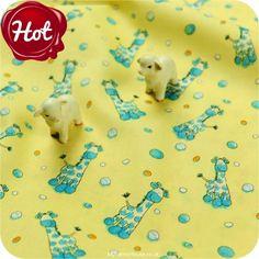 BESTSELLER | Zoo ♥ 50x53cm Chamois Yellow Giraffes & Polka Dots Cotton Fat Quarter Fabric