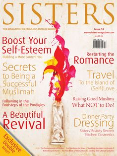 The January bumper issue Sisters Magazine, Roses Book, Islamic Fashion, Muslim Women, Self Esteem, About Me Blog, January, Magazines, Books