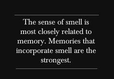 Very True! One smell can bring back a thousand memories.
