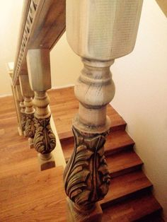 Solid Hand Made Wood Handrail (Railing) / Stair Balusters for Stairs. by 3DArhitect on Etsy