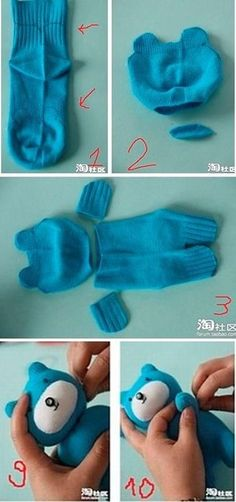 Sock Bear – what if I fill it with rice to make a heating pad bear ?, a # heating pad bear Sock Bear – what if I fill it with rice to make a heating pad bear ?, a # heating pad bear Sock Crafts, Cute Crafts, Creative Crafts, Fabric Crafts, Crafts For Kids, Bear Crafts, Sewing Toys, Sewing Crafts, Sewing Projects