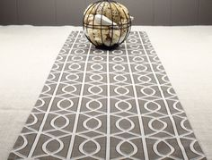 Elegant Modern Table Runner   Charcoal Grey And White Colors 72 Inch Long Table  Runner