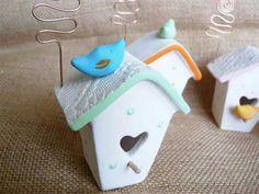 Mini casette uccellini portafoto