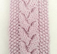 Jeg har strikket enda flere pannebånd. Denne gangen har jeg skrevet det ned og laget oppskrift.  Flette med perlestrikk. ... Knit Crochet, Diy And Crafts, Cross Stitch, Knitting, Sports, Fashion, Hair Streaks, Long Scarf, Projects