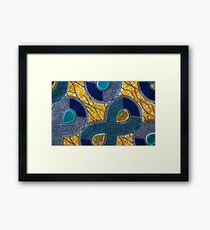 """African Print"" Framed Prints by CrazyCraftLady Fabric Wall Decor, Framed Fabric, Framed Art Prints, African Interior, African Home Decor, African Crafts, Africa Decor, African Art Paintings, African Theme"